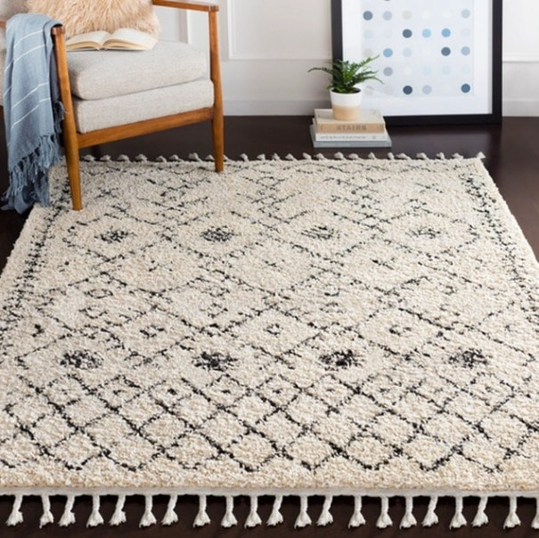 Stylish Berber Shag Area Rug