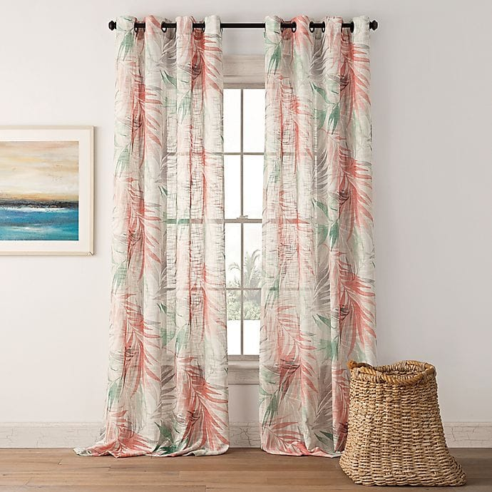 Create a Beachy Look with Palm Leaf Print Curtains