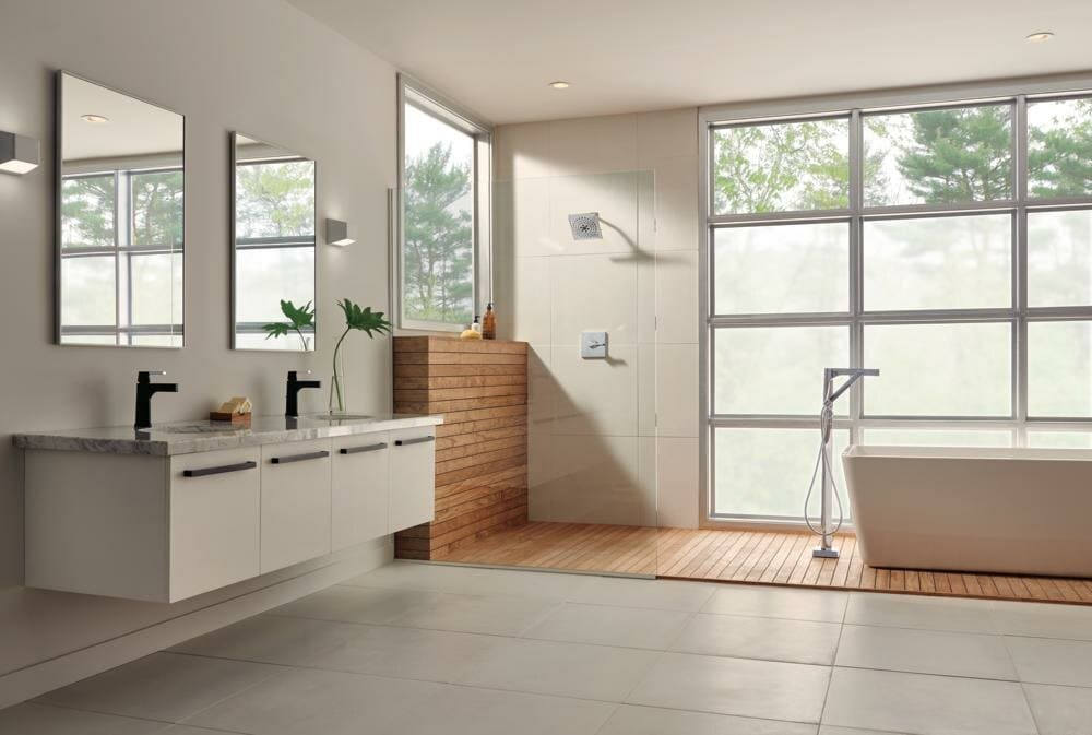 Clean and Contemporary Rectangular Bathroom Mirrors