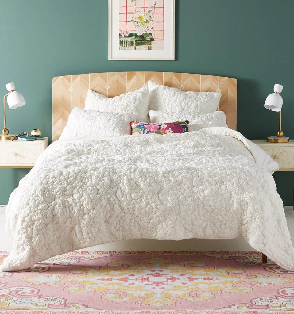 Textured White Bedding