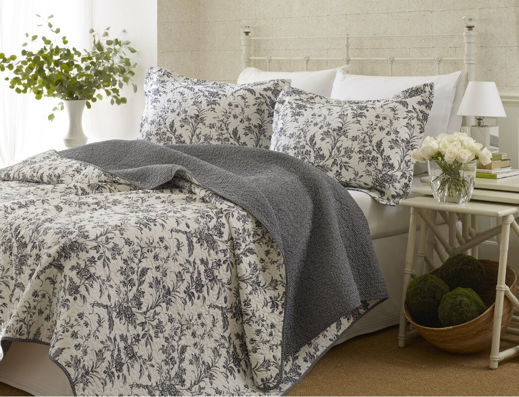 Design A Country Style Grey And White Bedroom
