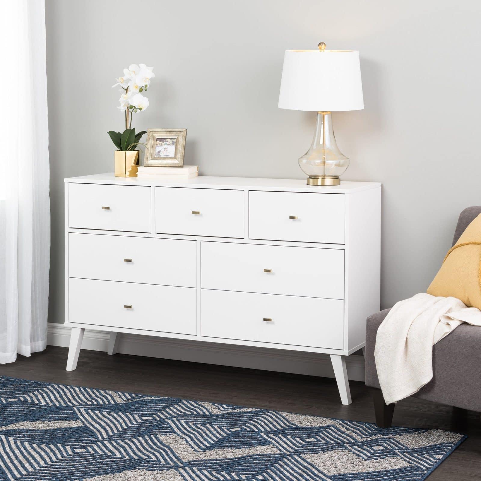 Milo Mid Century Modern 7-Drawer Dresser