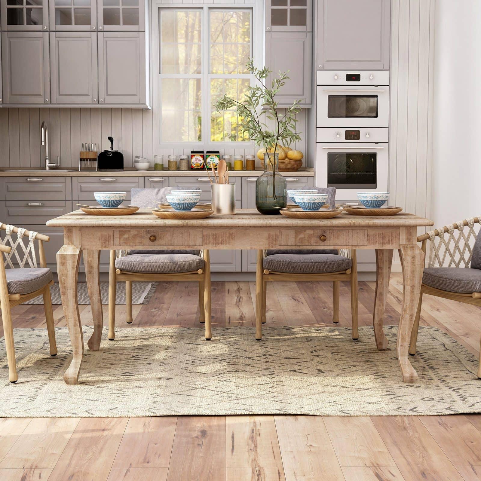 Angelita Mango Solid Wood Dining Table