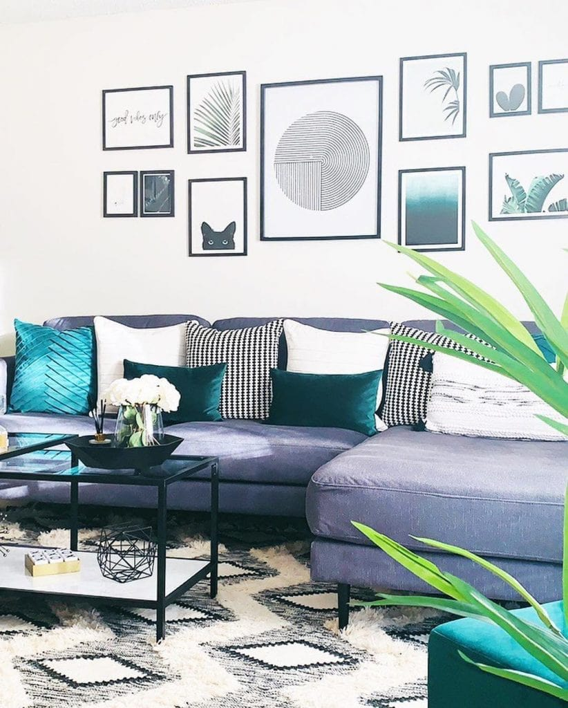 32 Teal And Grey Living Room Ideas