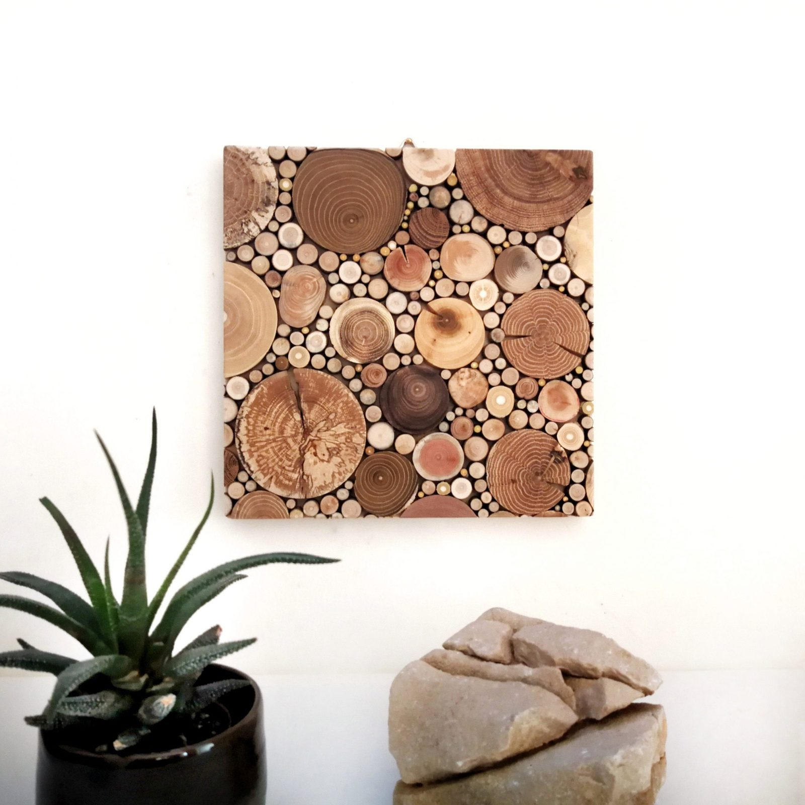 Square Wood Mosaic Wall Art