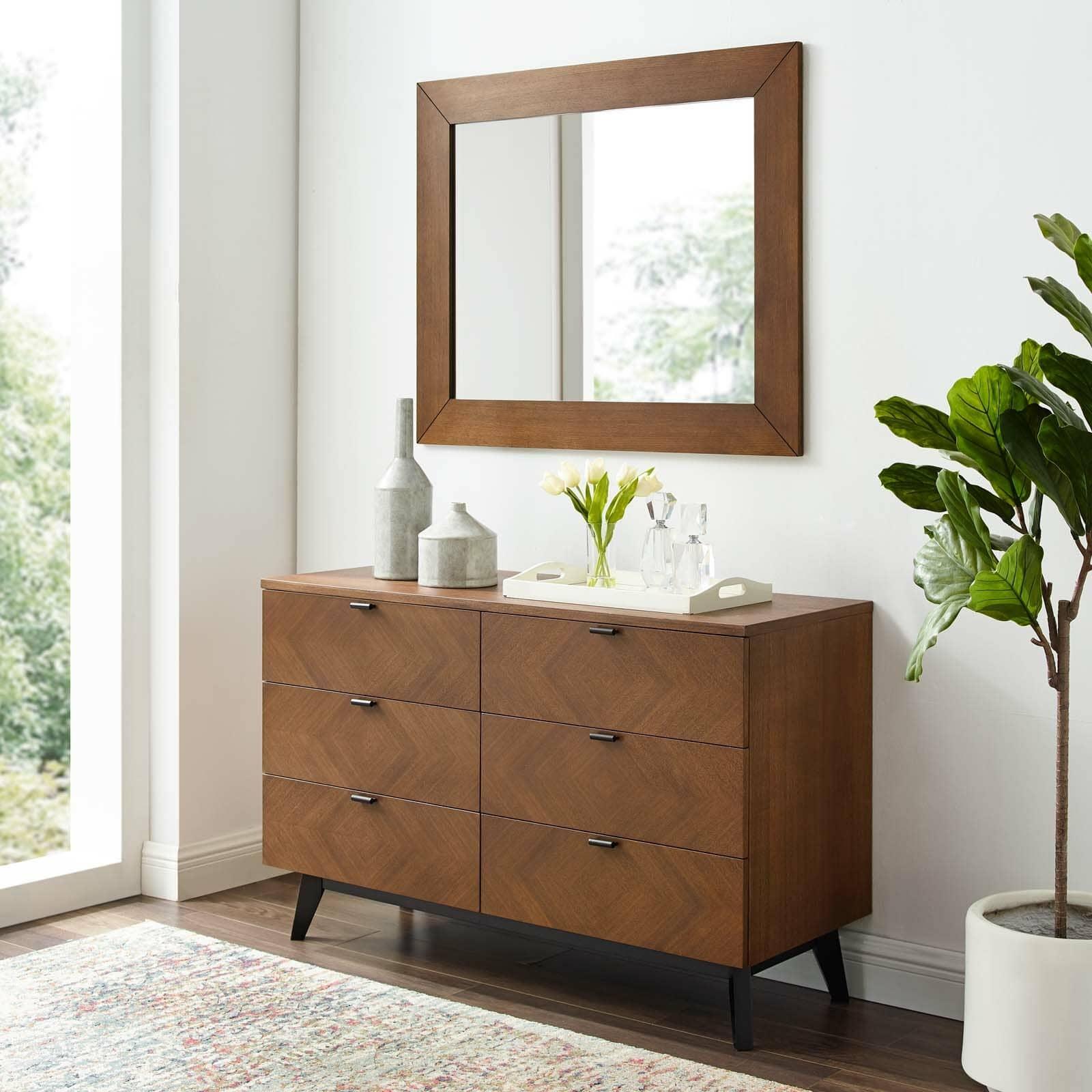 Antonelli 6 Drawer Double Dresser with Mirror