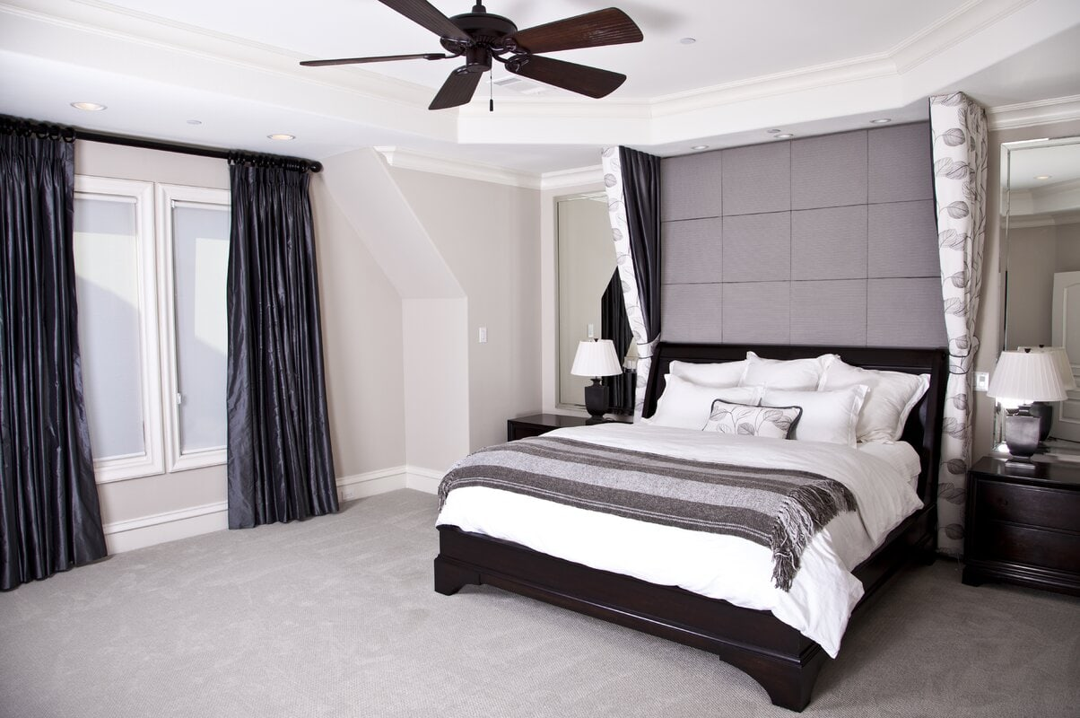 Go With A Grey, Black, And White Bedroom