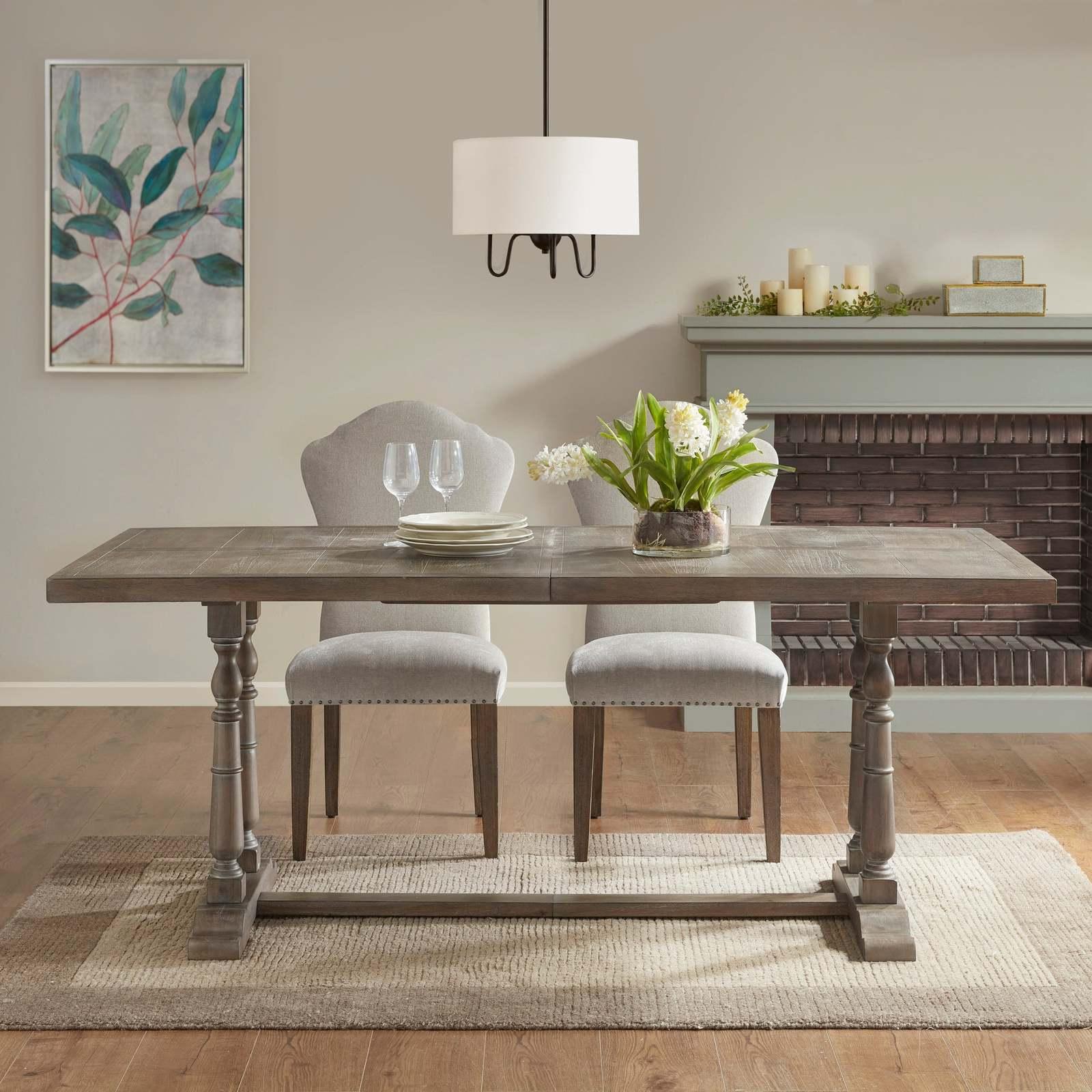 Martha Stewart Grey Rectangular Dining Table