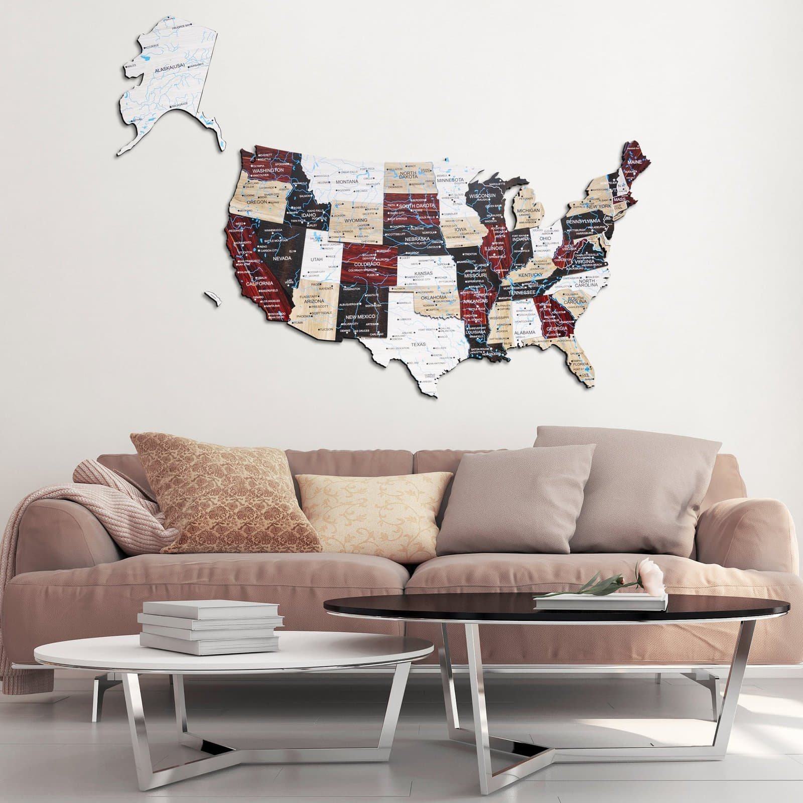 3D Map of The USA