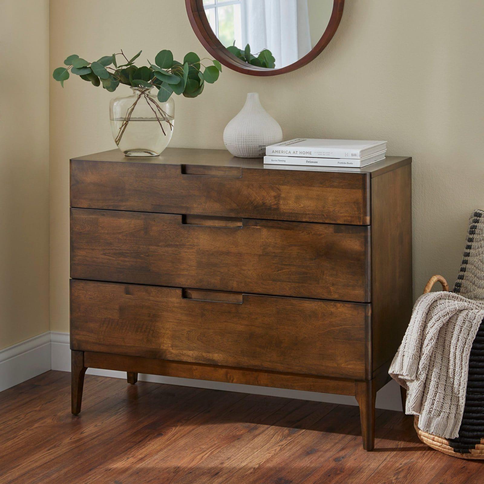 Lorraine Mid-Century Modern 3-Drawer Dresser