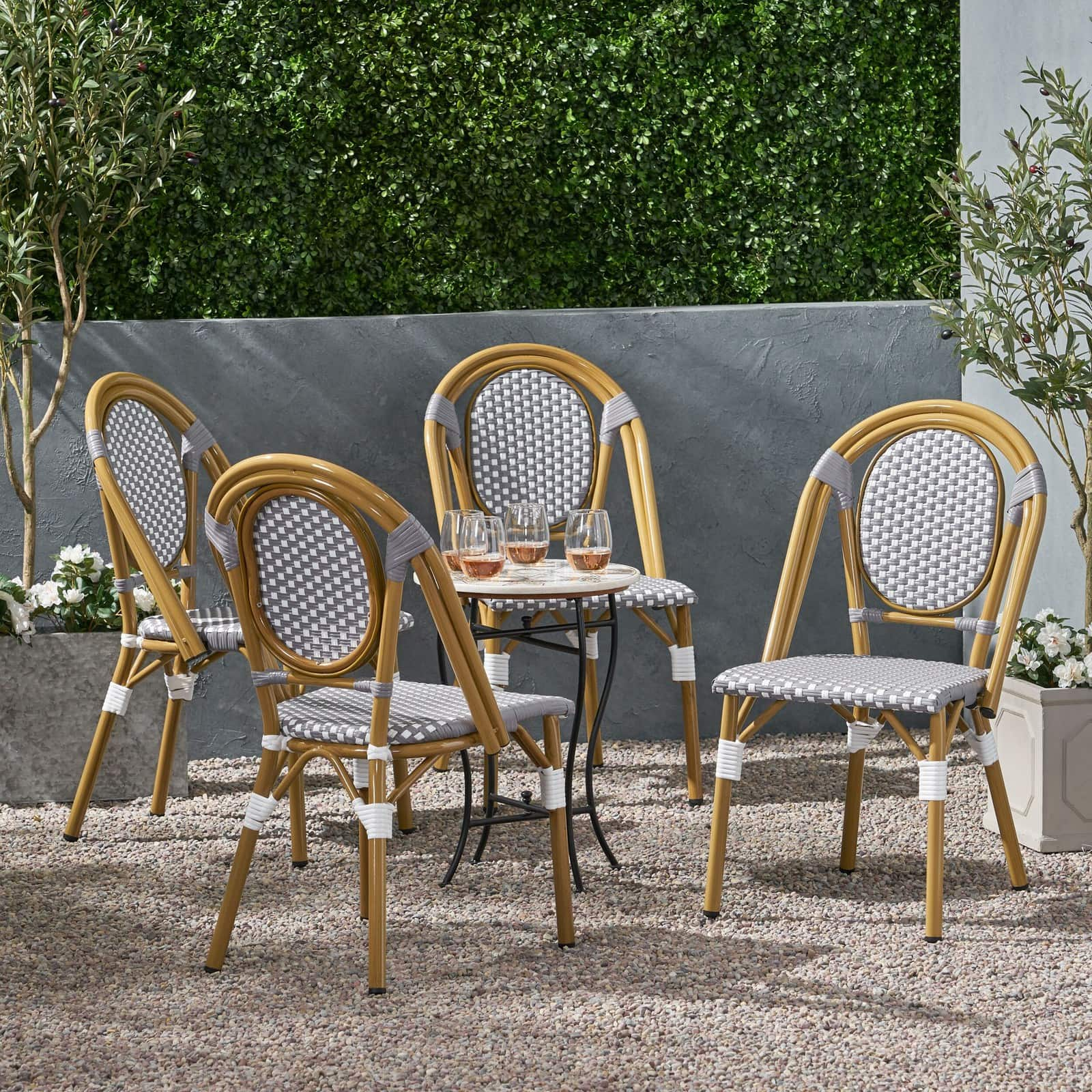 Remi Outdoor French Bistro Chairs