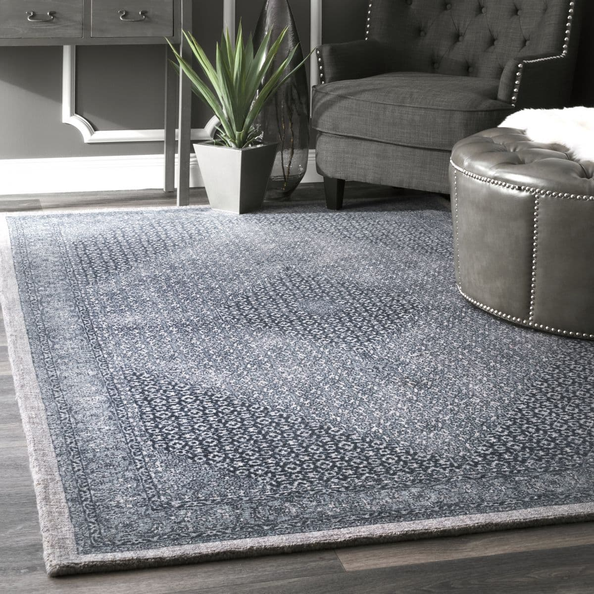 Dark Blue Wool Coventry Area Rug