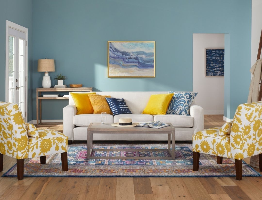 Designs Perfect For Your Teal And Grey Living Room