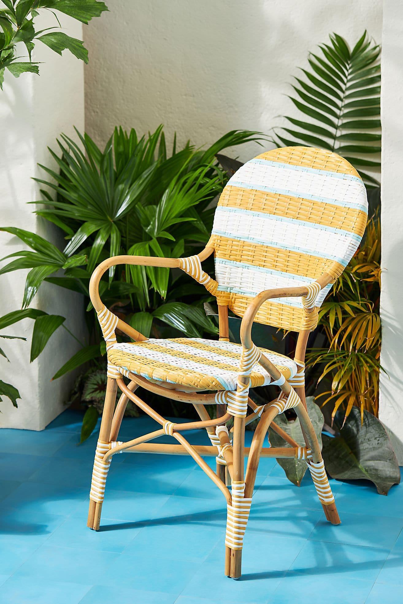 Belmar Striped Bistro Chair