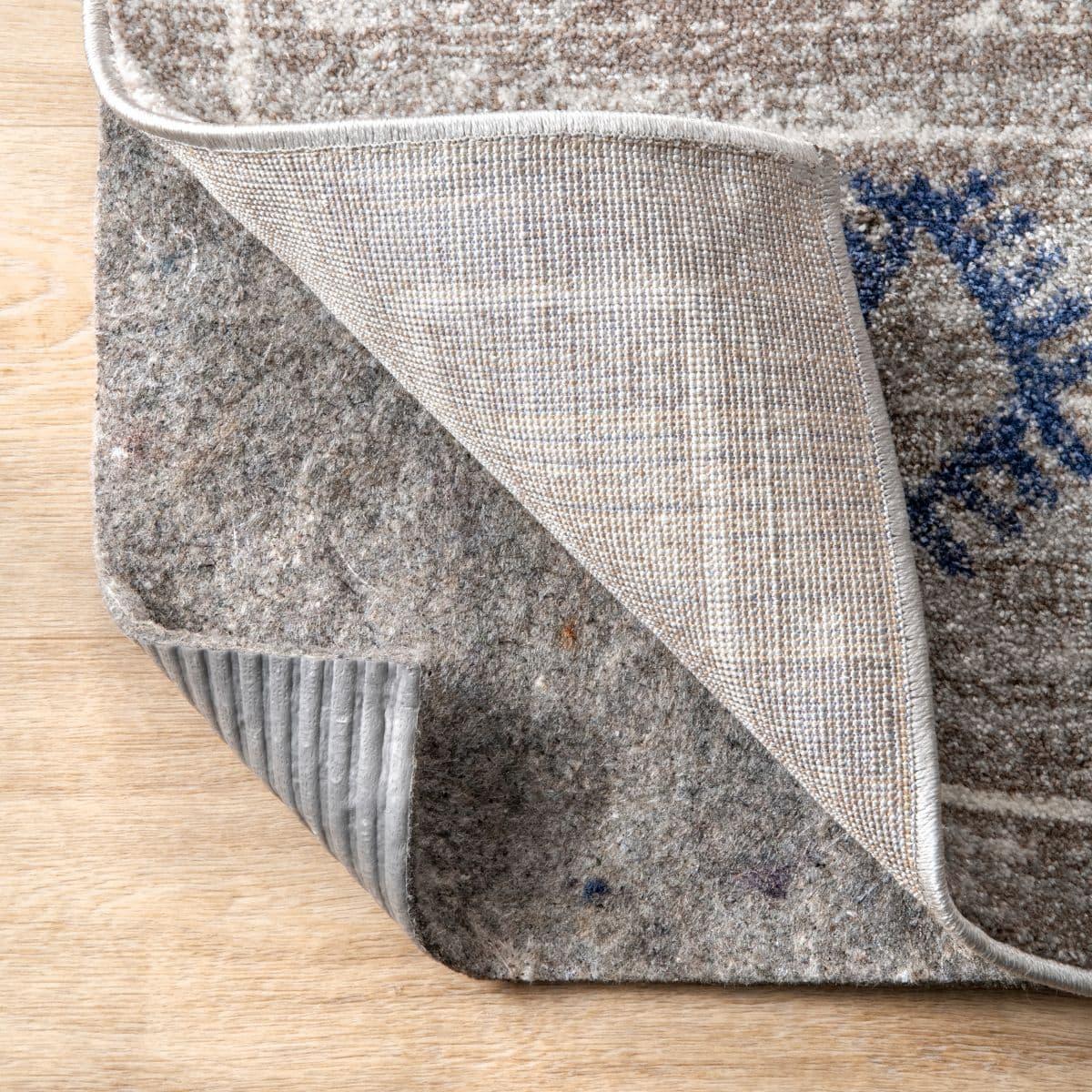 Gray Pet-Friendly Non-Slip Rug Pad