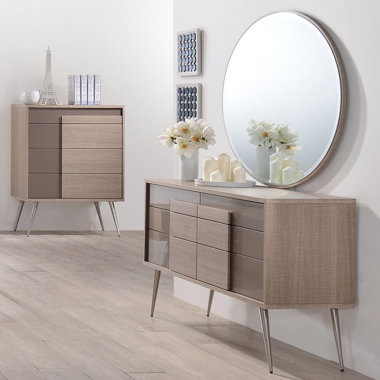 Bulluck 6 Drawer Double Dresser with Mirror