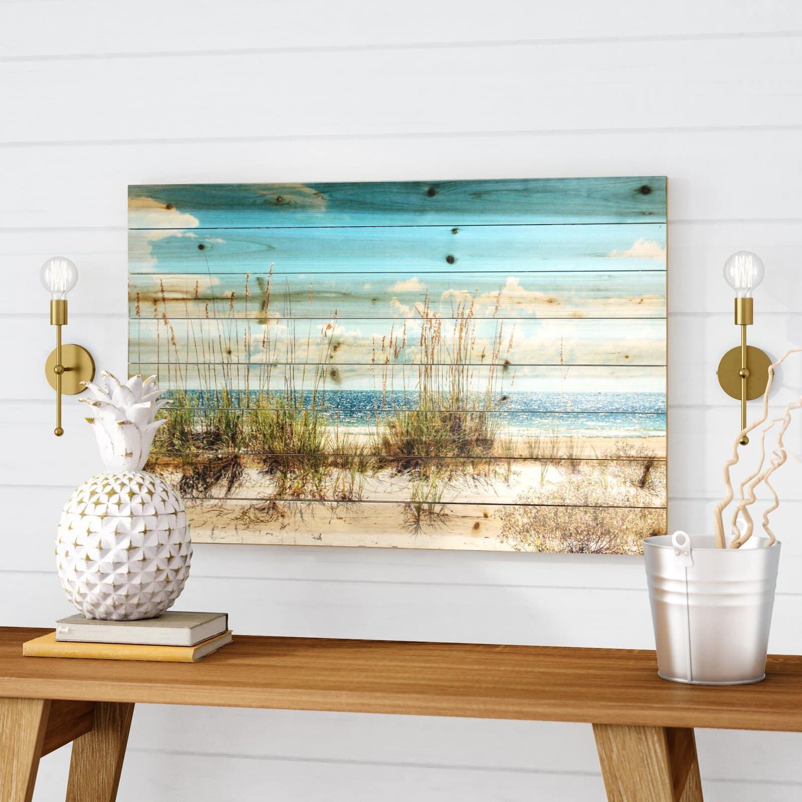 Sand Dunes, Photographic Print on Wood