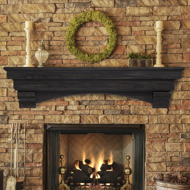 Moss Wreath and Candles
