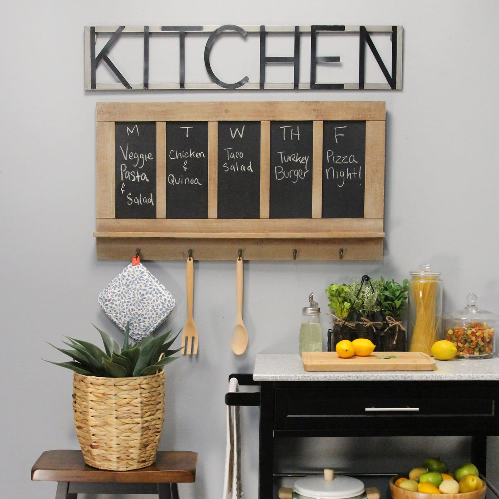 Rustic Metal Kitchen Sign