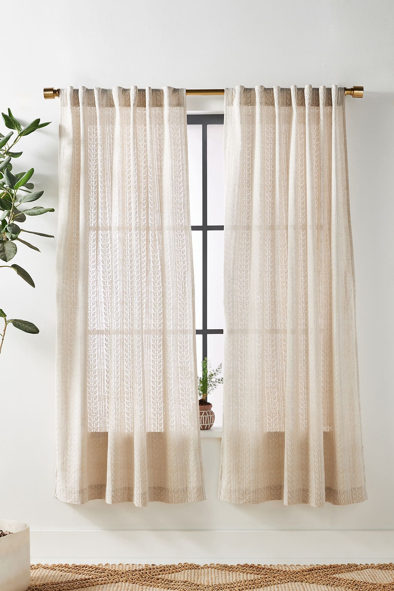 Embroidered Cantrelle Curtains