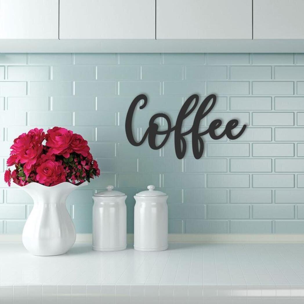 Cursive Coffee Sign Wall Decor