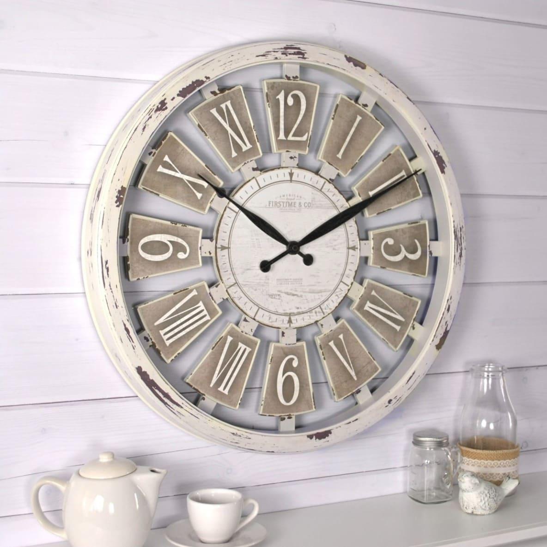 Antique Oversized Farmhouse Clock