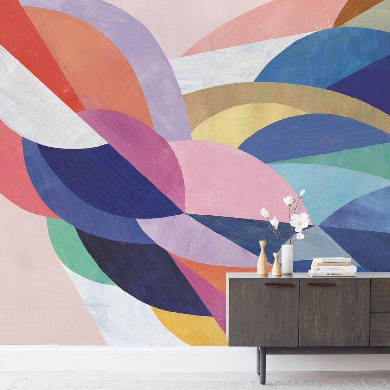 A Bright and Bold Wall Mural