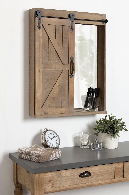 Decorative Barn Door Cabinet