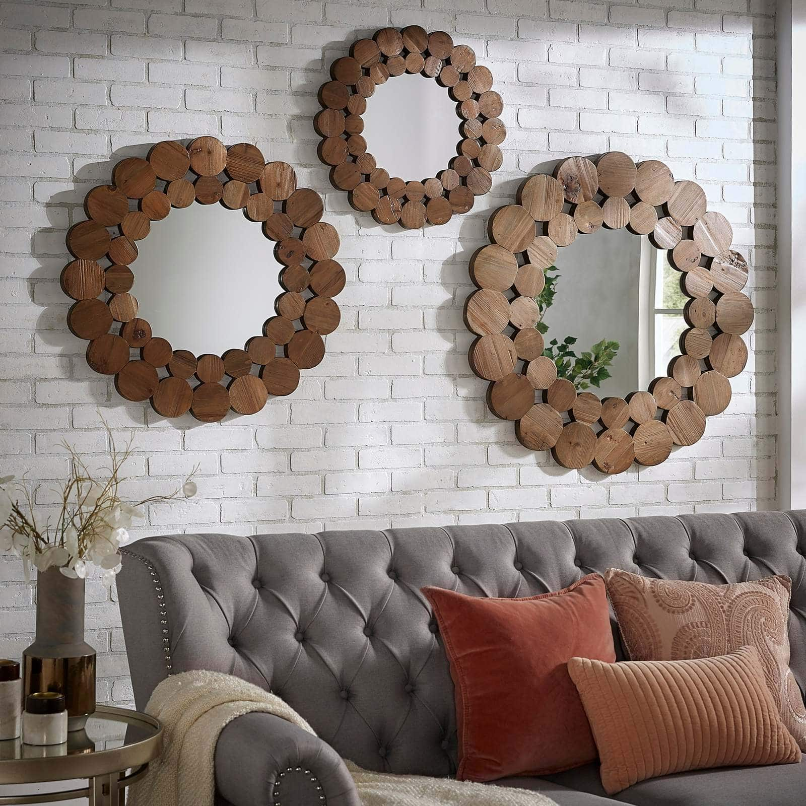 Trio of Reclaimed Wood Mirrors