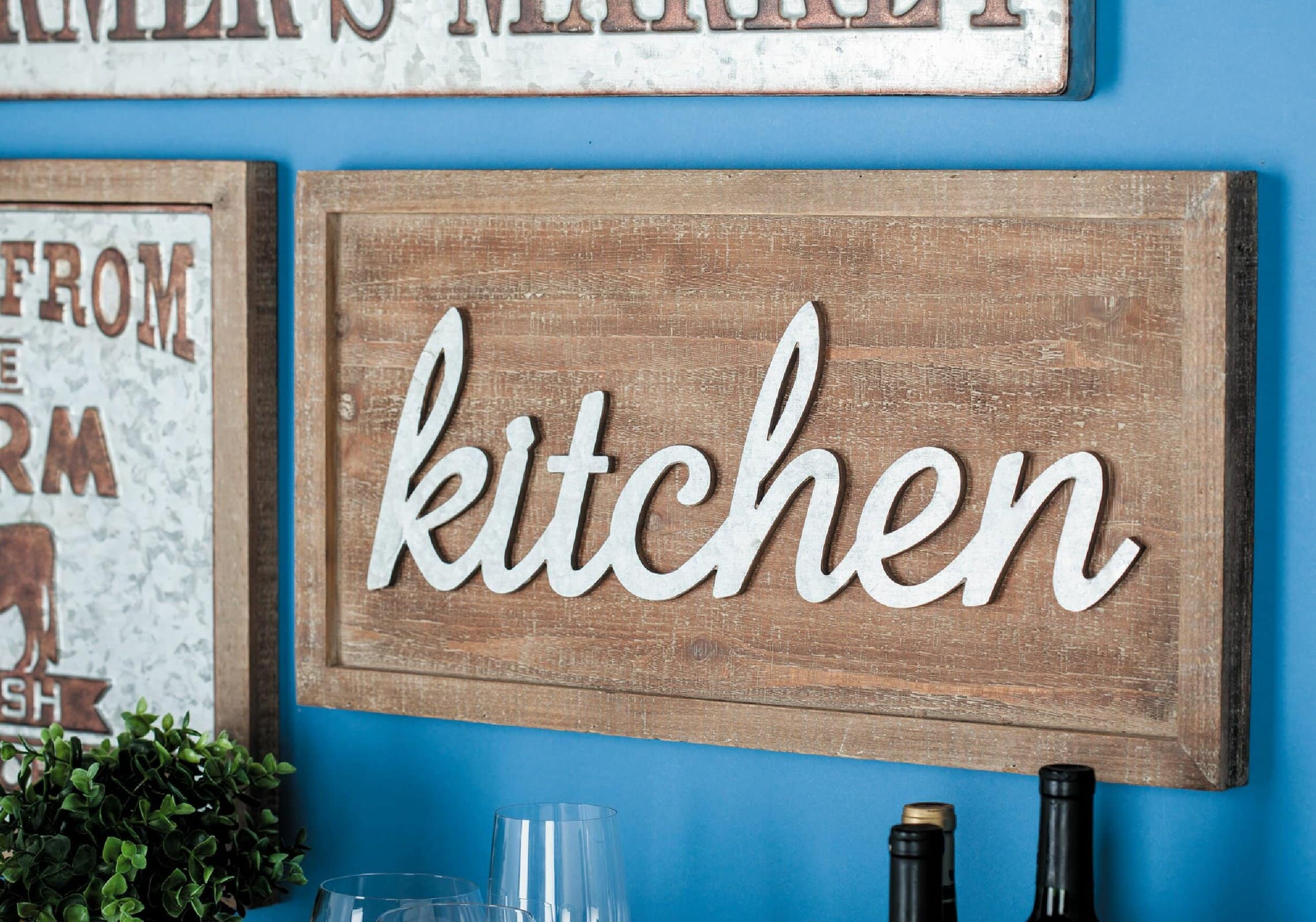 Wooden Kitchen Wall Sign