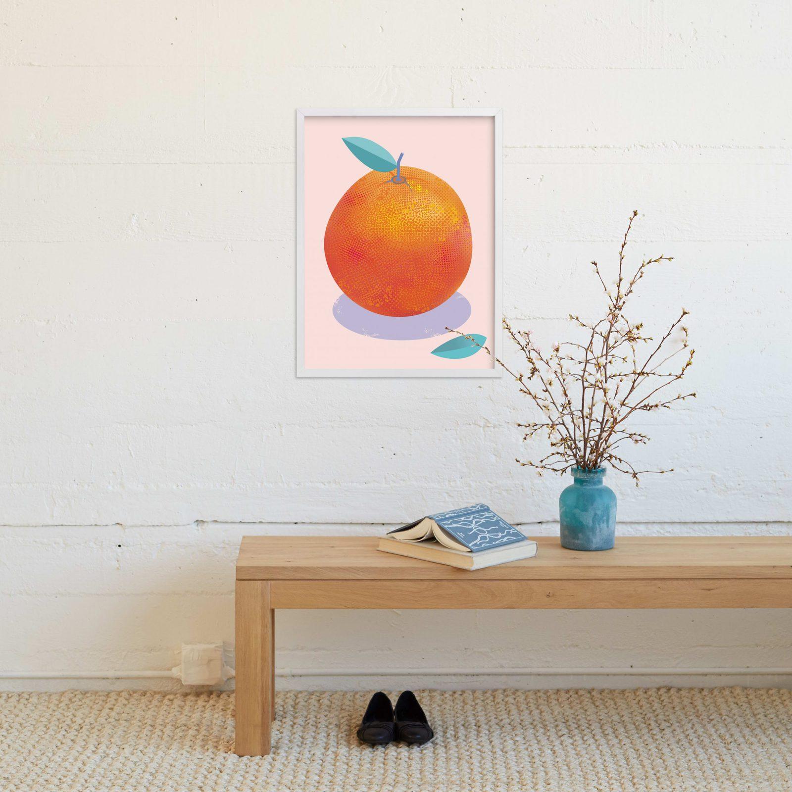 Fresh Orange Art Print