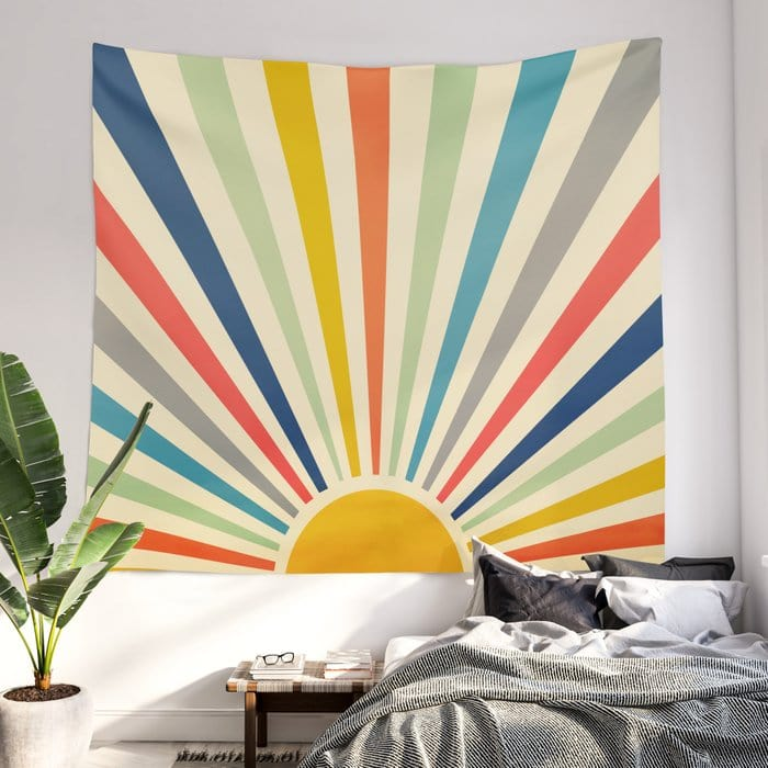A Retro Wall Tapestry