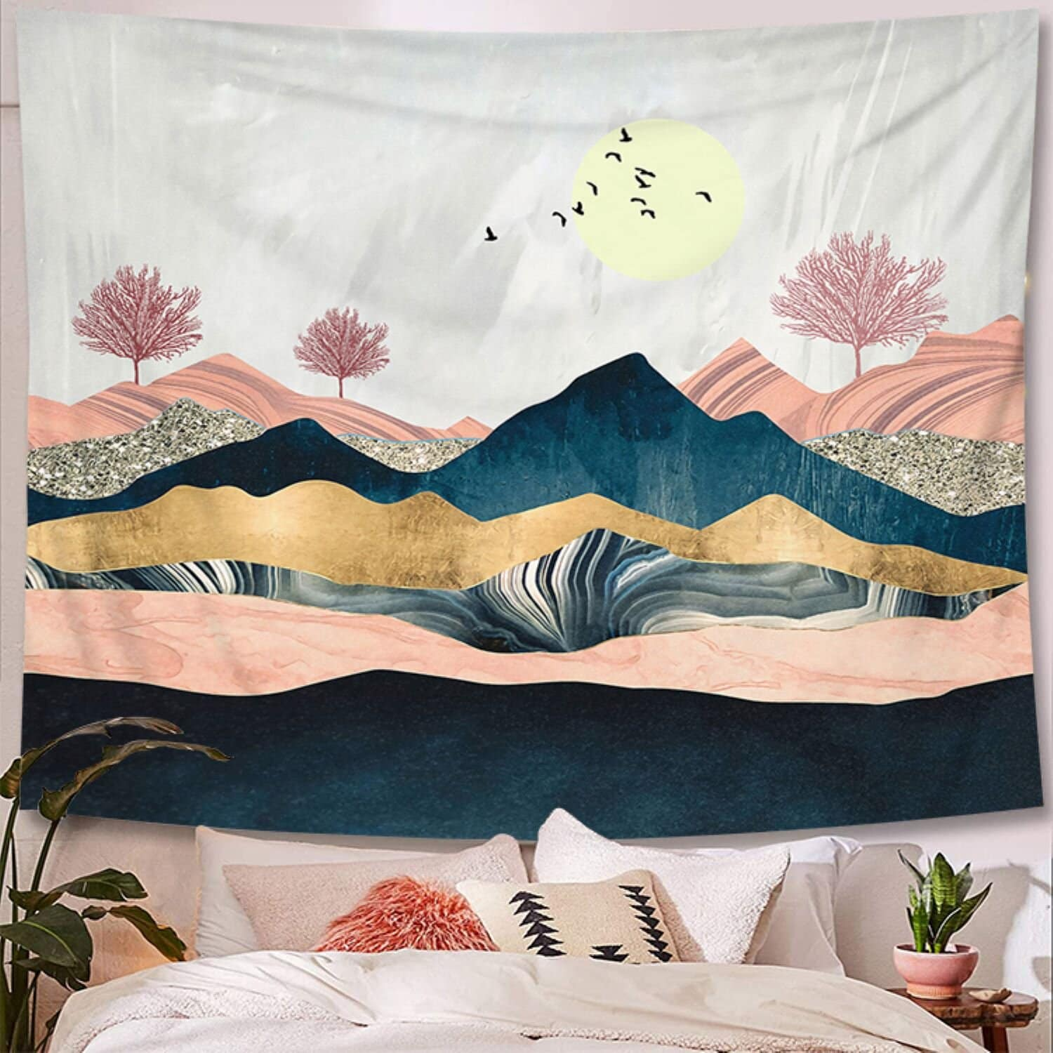 Create a Feature Wall With a Tapestry Wall Hanging