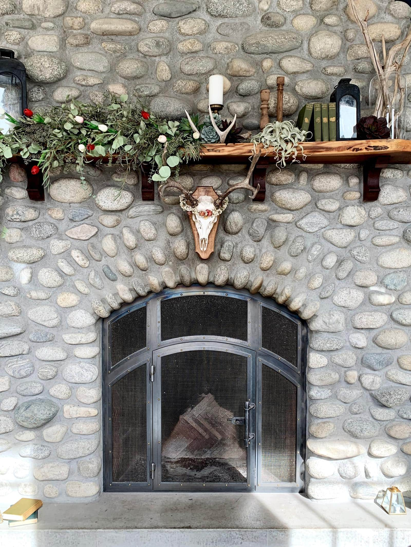 Rustic and Whimsical Mantle Idea