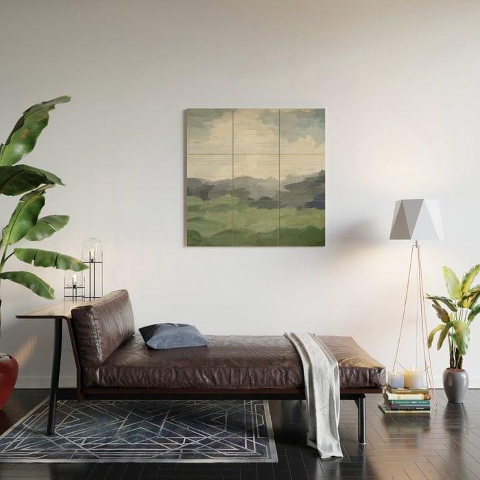 Abstract Farmland Wooden Wall Art