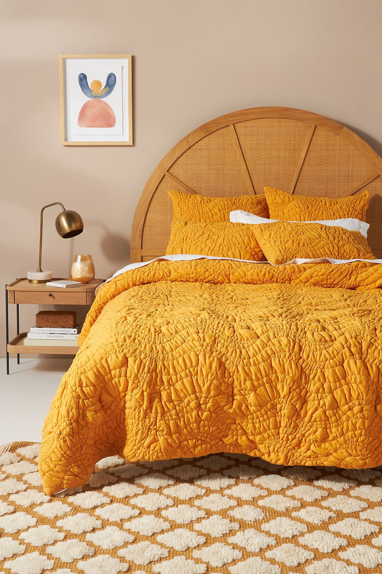 Bright, Textured Bedding