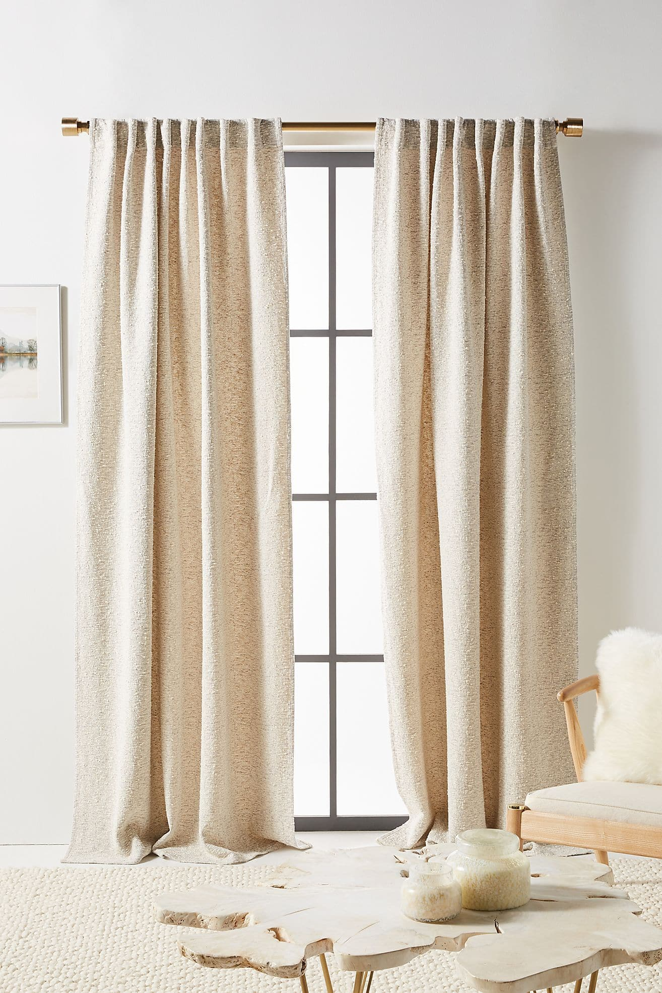 Textured Curtains in a Neutral Color