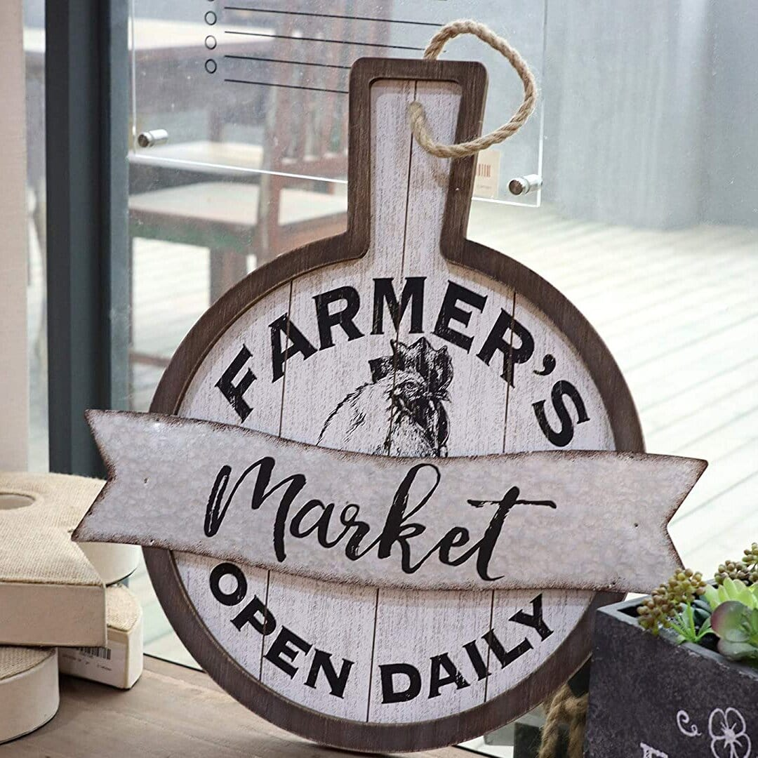 Farmer's Market Wall Sign