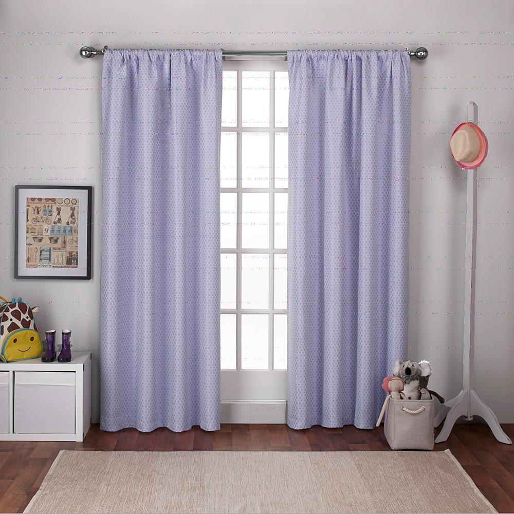 Polka Dot Lilac Curtains