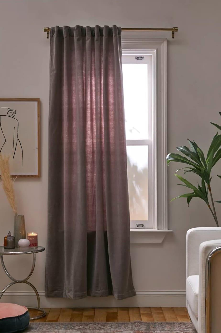 Cotton Velvet Window Panel