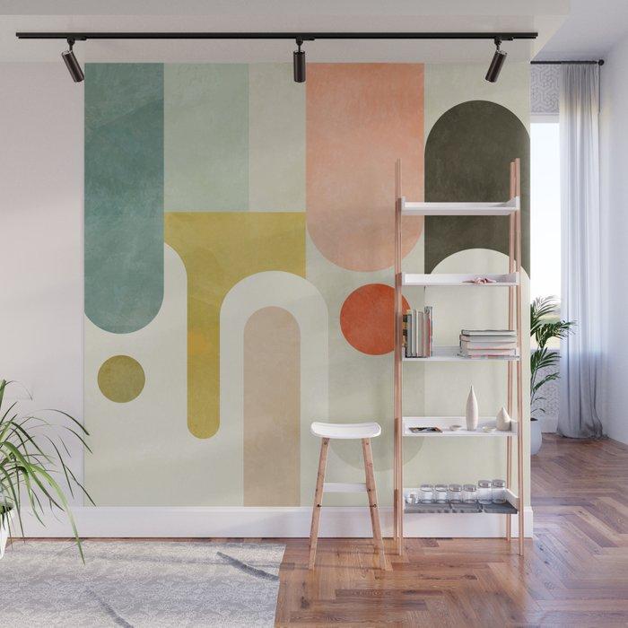 Abstract Pastel Wall Mural