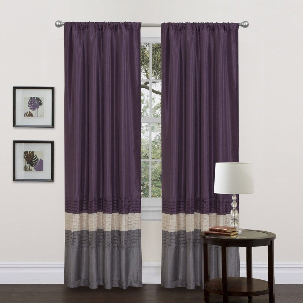 Grey, Purple and Beige Curtains