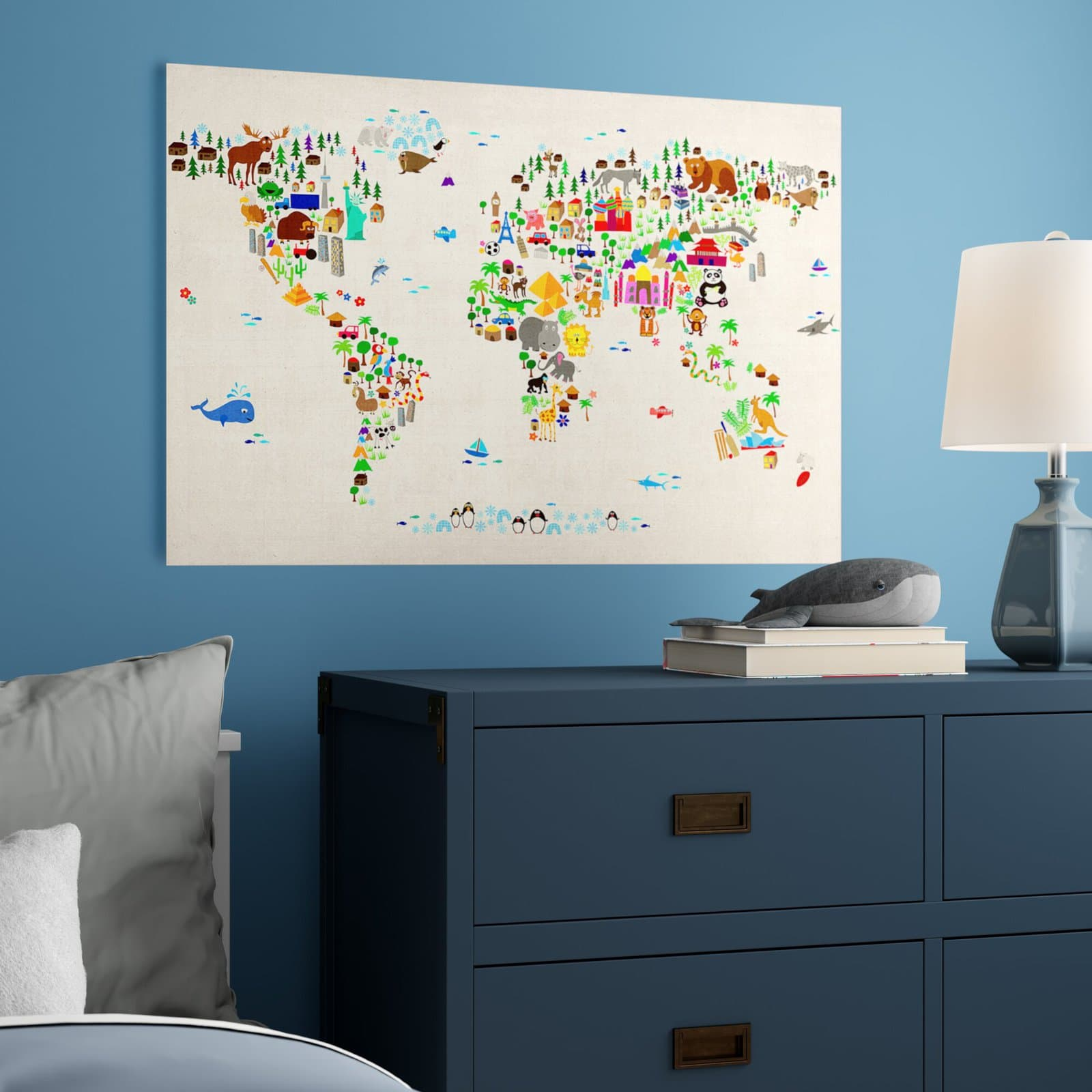 Colorful World Map for Kids