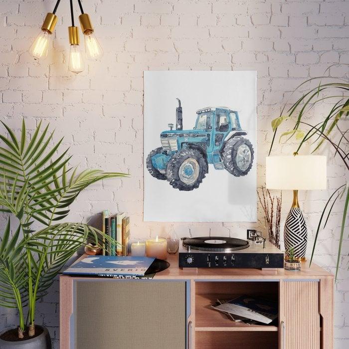 Big Blue Tractor Illustration