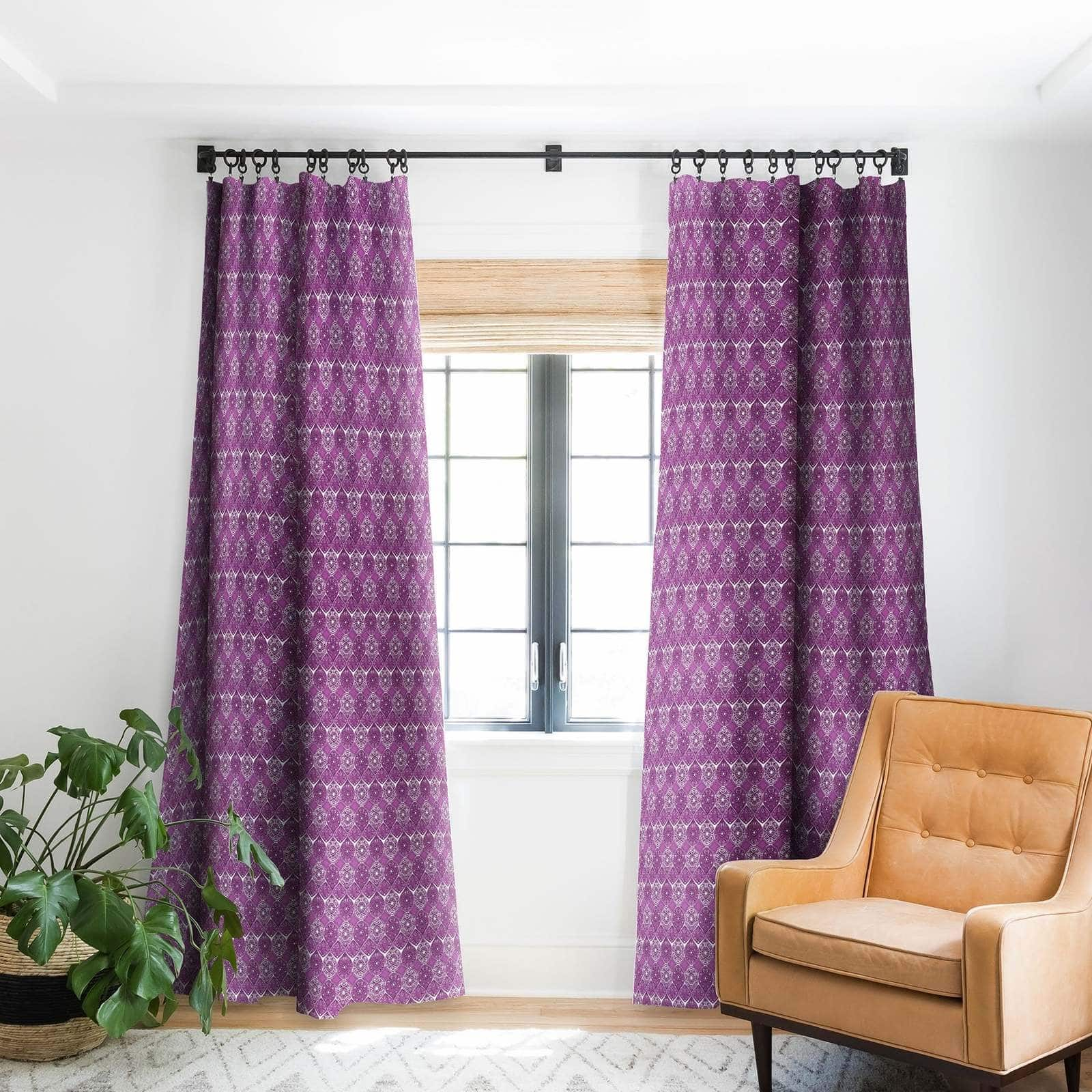White and Purple Curtains