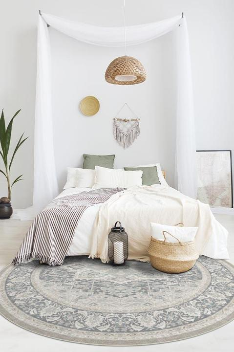 6-Foot Round Rug at The End of The Bed