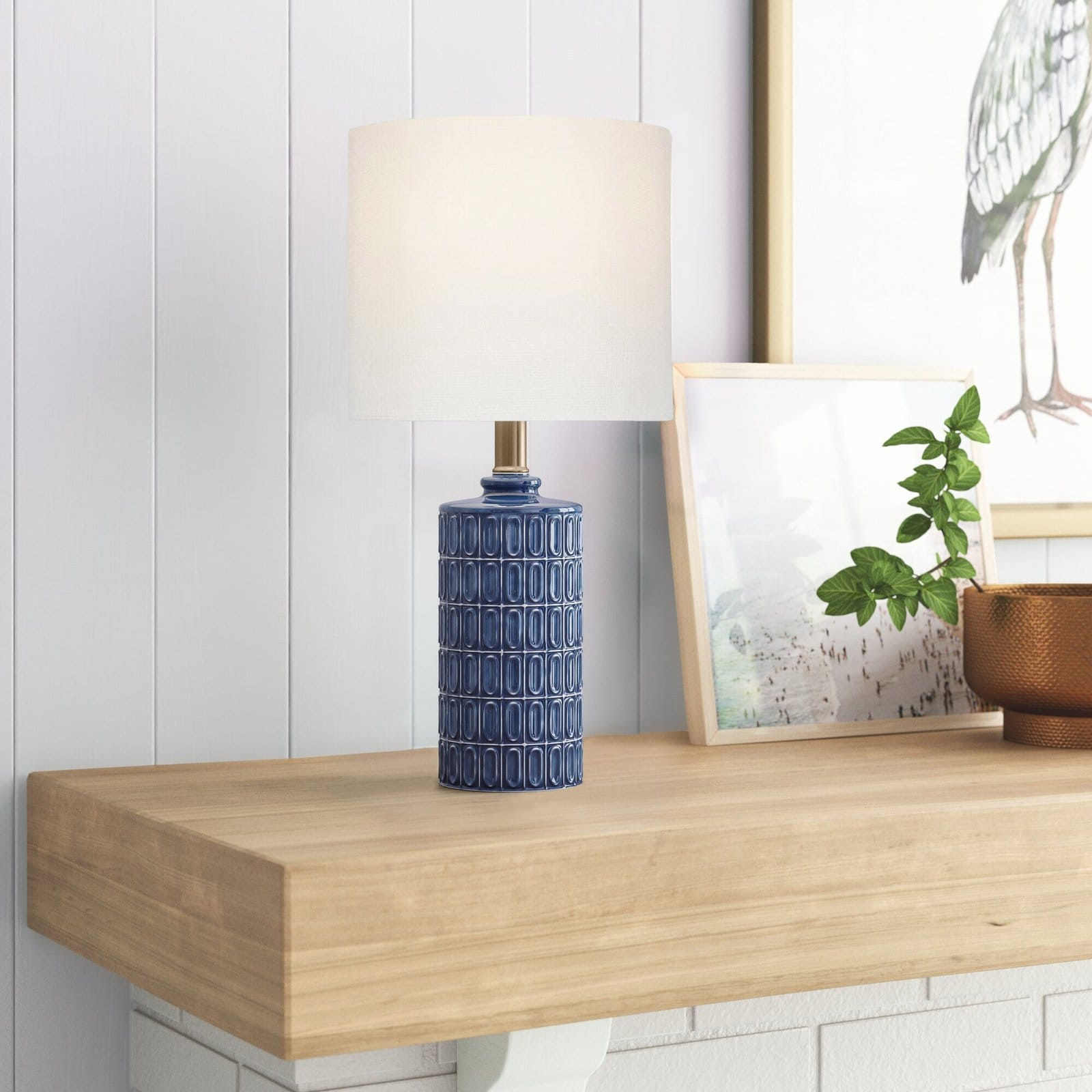 Add a Touch of Coastal Charm With A Small Ceramic Table Lamp