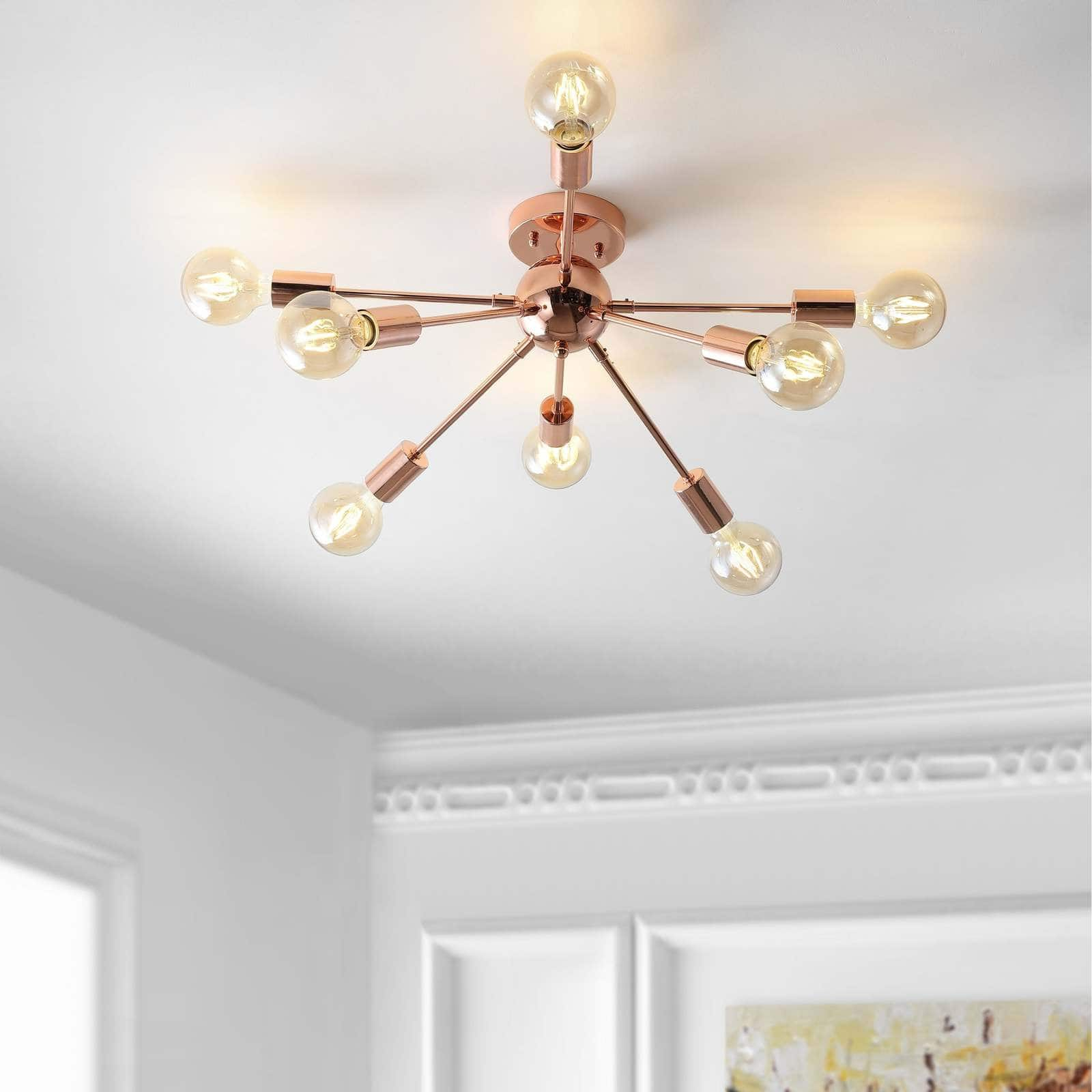 Keep Your Living Room Light and Bright with Exposed Bulbs