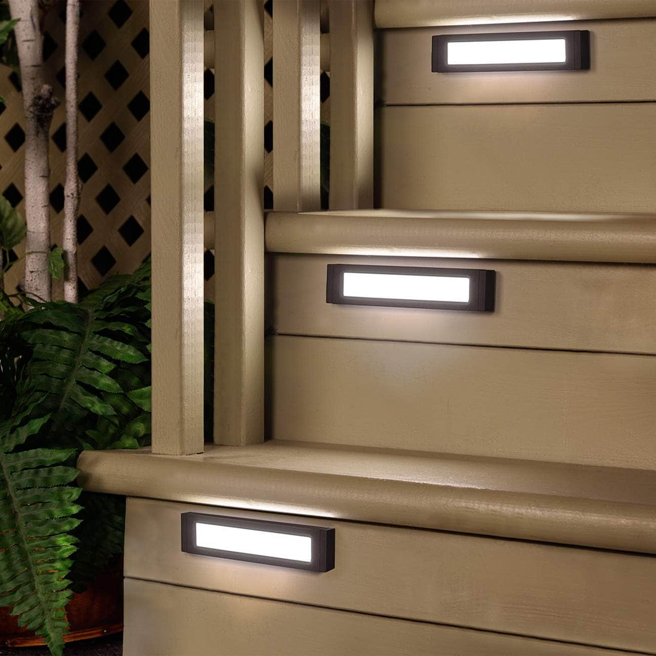 Minimalist Rectangular Stair Lights