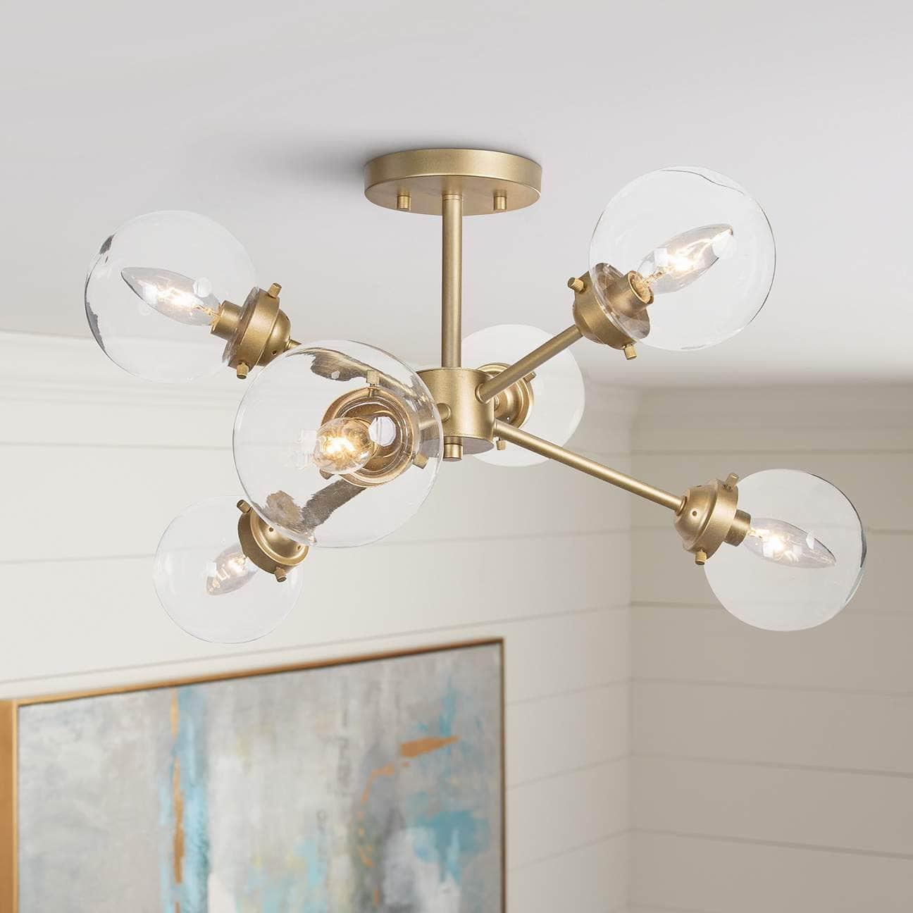 A Glam Sputnik Ceiling Light